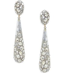 10k goldplated, lucite & crystal drop earrings