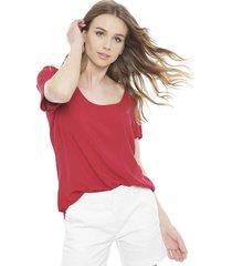 blusa hering rojo - calce regular
