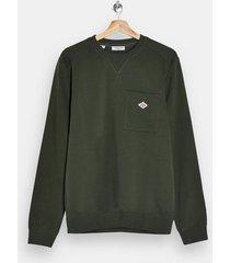 mens selected homme green pocket sweatshirt