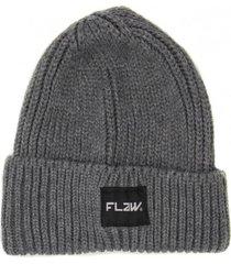 gorro de lana beanie raw gris flaw