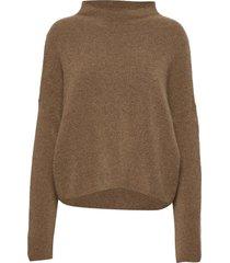 mika yak funnelneck sweater turtleneck coltrui bruin filippa k