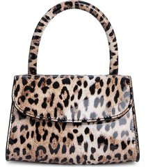 by far women's mini animal-print leather satchel bag - leopard
