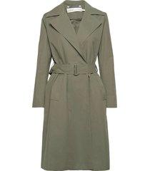 yumaiw coat trenchcoat lange jas groen inwear