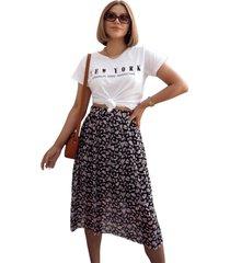 blusa in love t-shirt new york branca