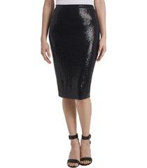 women's metallic dot midi tube skirt