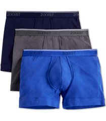 2(x)ist men's cotton stretch boxer briefs 3-pack