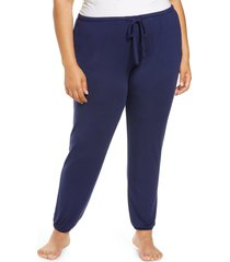 plus size women's nordstrom moonlight dream pajama joggers, size 2x - blue