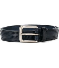 anderson's perforated square-buckle belt - blue