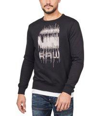 g-star raw men's paint drip sweatshirt, created for macy's