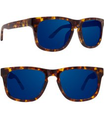 men's diff riley 52mm sunglasses - tortoise/ blue