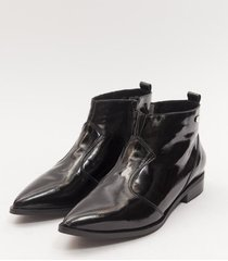 botas charol negro heyas noa