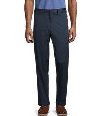 boss hugo boss men's keen flat front pants - navy - size 36 r