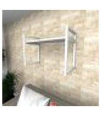 prateleira industrial para sala aço branco prateleiras 30 cm branca modelo indb03bsl