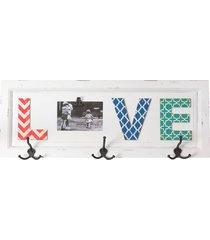 quadro cabideiro decorativo love