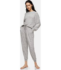 grey marl super soft loungewear sweatshirt - grey marl