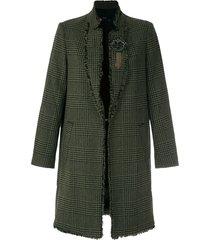 eva tweed half sleeve coat - green