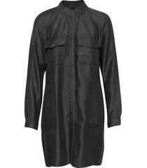 tencel over d shirt dress dresses shirt dresses svart superdry
