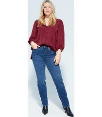 blouse met elastische mouwen