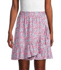 bcbgeneration women's floral ruffle mini skirt - floral - size s