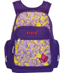mochila violeta reef 18con bolsillo térmico