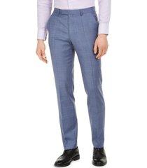 hugo hugo boss men's modern-fit blue plaid suit separate pants