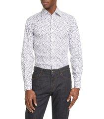 men's canali slim fit floral dress shirt