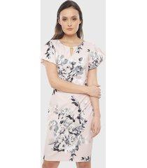 vestido calvin klein rosa - calce regular