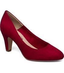 woms court shoe shoes heels bridal classic röd tamaris