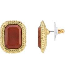2028 gold-tone post earrings