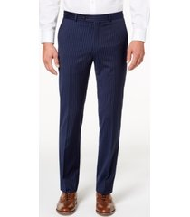 tommy hilfiger men's modern-fit th flex stretch navy pinstripe suit pants