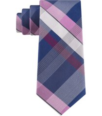kenneth cole reaction men's classic block plaid tie
