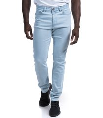 men's barbell apparel straight athletic fit stretch jeans, size 40 x 34 - blue