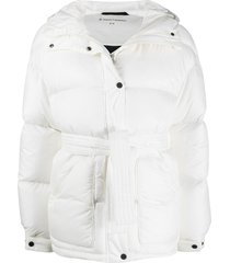 perfect moment belted padded ski jacket - white