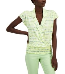 alfani abstract-print top, created for macy's