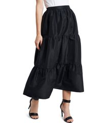 women's vince camuto iridescent tiered taffeta skirt