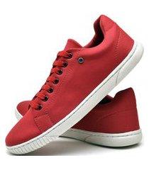 tênis sapatênis casual fashion dubuy 940el vermelho