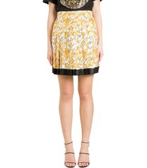 versace baroque pleated skirt