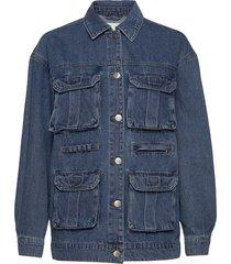 onlpatricia cargo md blu dnm jacket jeansjacka denimjacka blå only