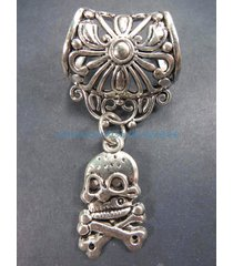 us seller-cross bone skull death slider pendant scarf slides jewelry
