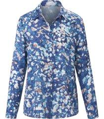 blouse met lange mouwen en met stof beklede knopen van mayfair by peter hahn multicolour