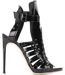 dsquared2 braid heeled sandals - black