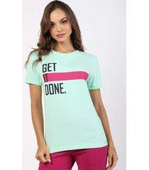 t-shirt get it done - verde - feminino - dafiti