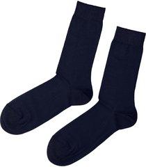 calzedonia - short stretch cotton socks, 40-41, blue, men