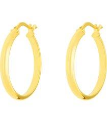 orecchini a cerchio in oro giallo mezzo tondo 20 mm per donna