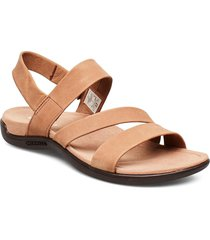 district kanoya strap carob shoes summer shoes flat sandals brun merrell