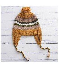 100% alpaca chullo hat, 'andes charisma' (peru)