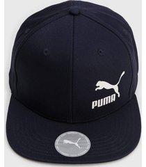 boné puma colourblock azul-marinho