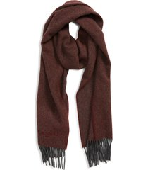 women's canali camel hair scarf, size one size - red