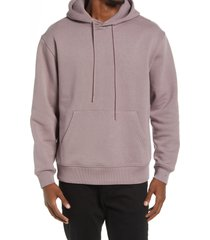men's topman elderberry drawstring hoodie, size x-small - purple