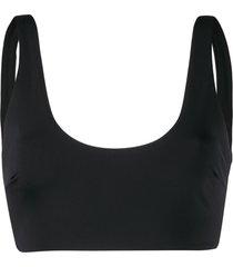mara hoffman scoop neck bikini top - black